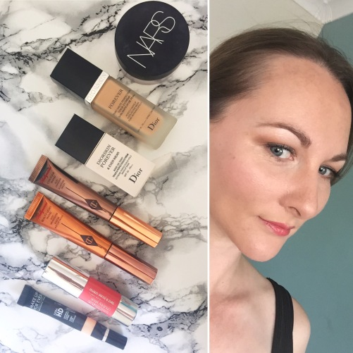 Makeup of the Day.   Dior, Nars, Charlotte Tilbury, Clinique, Makeup Forever HD