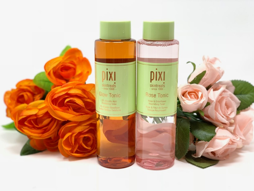 Pixi Glow Tonic and Pixi Rose Tonic