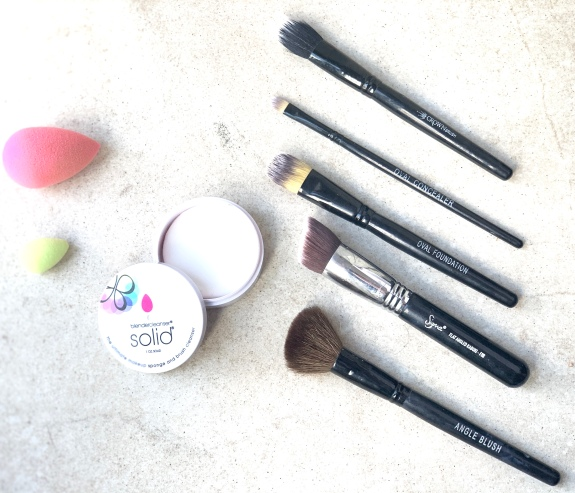 Beauty Blender cleanser and Brushes